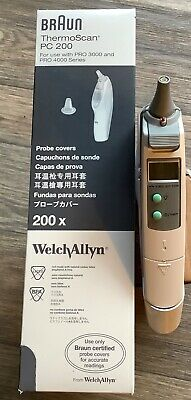 Braun Thermoscan Type 6013 Digital Ear Thermometer With Base & 200 probe covers
