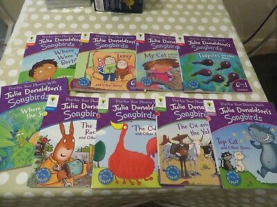 Used Oxford Reading Tree Songbirds Phonics Collection 9 books - Julia Donaldson
