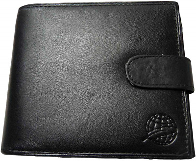 Roamlite RFID NFC Blocking Leather Men's Wallet with Zipped Notes and Zip Up RF