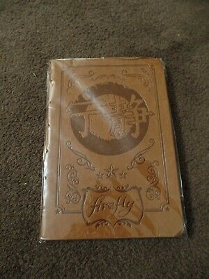 Loot Crate Cargo Crate Exclusive Brown Firefly Notebook Serenity Joss Whedon