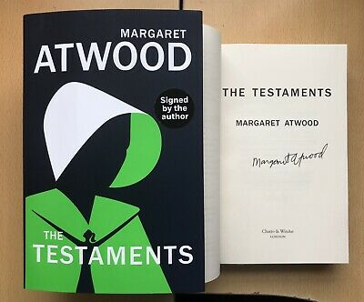 Margaret Atwood The Testaments WINNER BOOKER PRICE 2019 HB 1st/1st SIGNED NEW