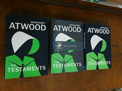 THE TESTAMENTS: SIGNED 1st/1st Margaret Atwood UK / Canadian Bundle 3 x Books