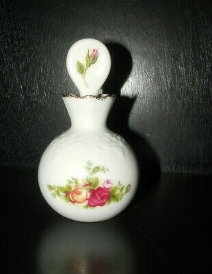 Royal Albert~ Perfume Bottle w/ Stopper ~ Old Country Roses ~ 1962 ~  England