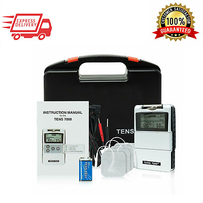 NEW TENS 7000 2nd Edition Digital TENS Unit Muscle Stimulator with Accessories