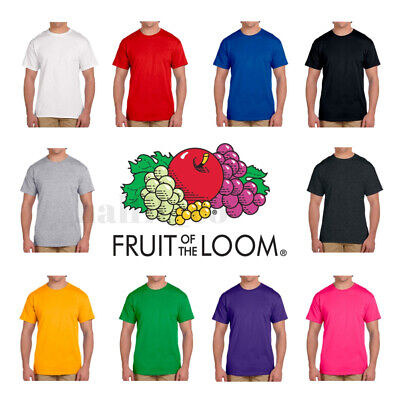 Fruit of the Loom Men's ( S~3XL & 5~10 oz ) Short Sleeves HD cotton T-Shirt