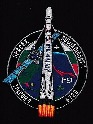 BULGARIASAT-1 - SPACEX ORIGINAL Employee Numbered FALCON-9  F-9 Mission PATCH