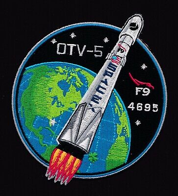 OTV-5 - X-37B - SPACEX ORIGINAL Employee Numbered FALCON-9  F-9 Mission PATCH