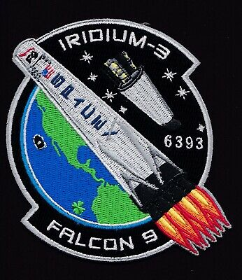 IRIDIUM-3 - SPACEX ORIGINAL - Employee Numbered - FALCON-9  F-9 Mission PATCH
