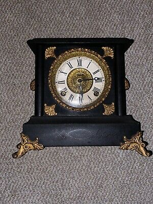 Antique E. Ingraham Co. Mantle Clock **Must See!**