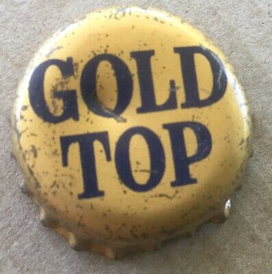 1960's GOLD TOP BEER BOTTLE CAP FROM QUEENSLAND