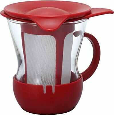 Hario heat-resistant one cup tea mug 200ml red OTMH-1R from japan NEW