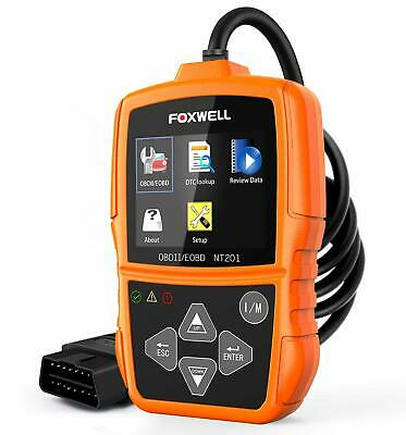Foxwell NT201 Auto OBD2 Scanner Check Car Engine Light Fault Code Reader OBD ...