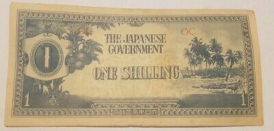 WW2 Japanese Government One Shilling Note