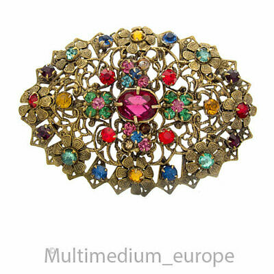 Alte Mode Schmuck Gablonz Strass Brosche vintage fashion paste brooch 🌺🌺🌺🌺🌺