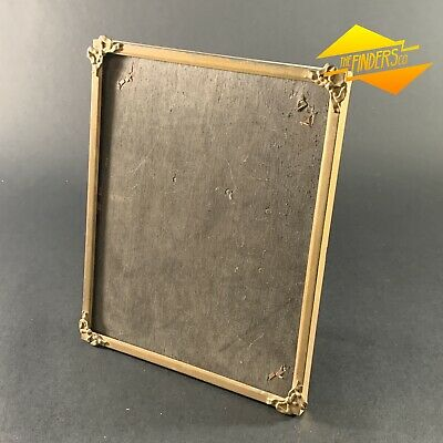 """PETITE VINTAGE c.1940's 'ARCO' BRASS 8"""" X 10"""" TIN PLATE PICTURE FRAME BRITISH"""