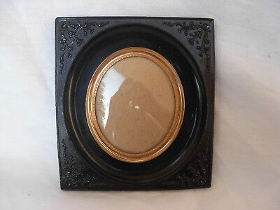 ANTIQUE FRENCH  GUTTA PERCHA PHOTO OR MINIATURE PAINTING FRAME,LATE 19th.