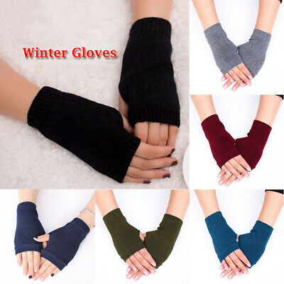 1 Pair Women Cotton Fingerless Warm Winter Gloves Hand Wrist Warmer Mittens