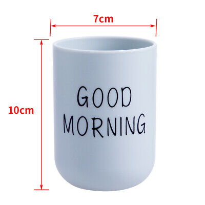 Portable Tooth Toothbrush Toothpaste Circular Cup Tumbler Holder Bathroom LA1