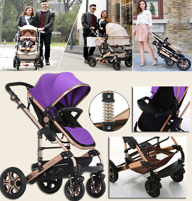 9 in 1 Baby Kids Toddler Pram Stroller with Bassinet 4 Wheel Compact Pushchair
