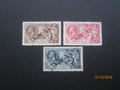 Gb Stamps - Kgv - Sg450 - Sg452 - 1934 Seahorse Set - G/Fine Used
