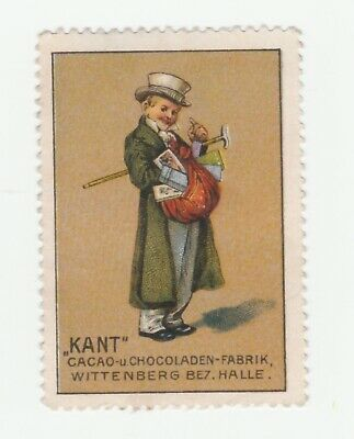 German- Kant Cacao & Chocolate poster stamp- no gum