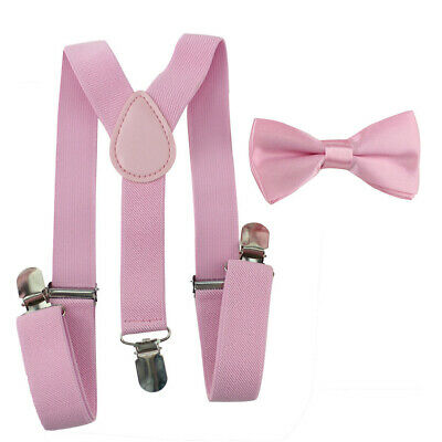 Kids Cute Braces Suspender And Bow Tie Set For Baby Toddler Boys Girls Child HD3