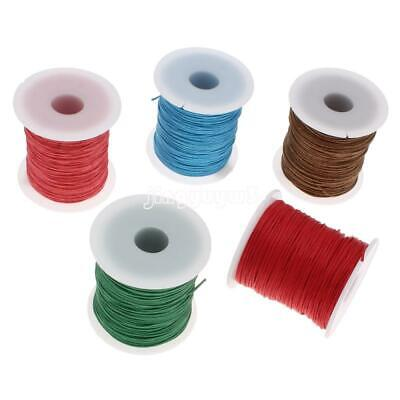 100Yards Waxed Cotton Cord String Thread Rope Jewelry DIY Craft Jewelry 1mm New