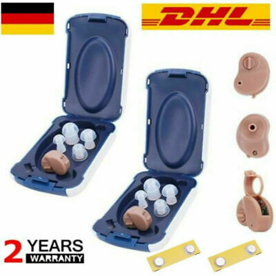 2pcs Digital In Ear Hörgerät Einstellbare Sound Amplifier Pocket Hearing Aid DHL