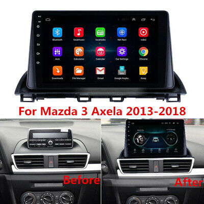 "9"" 2Din Android 8.1 Radio Stereo GPS MP5 Player 2GB+32GB For Mazda 3 Axela 13-18"
