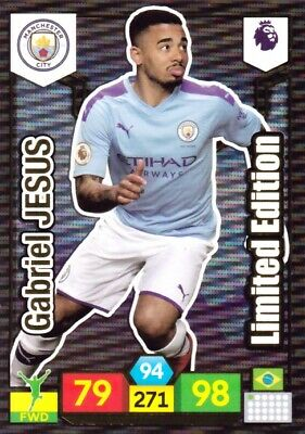 Panini Adrenalyn Xl Premier League 2019/20 Limited Edition Jesus Manchester City