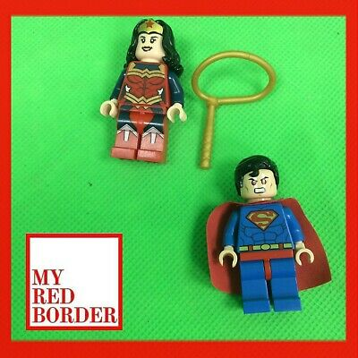 Lego Bundle DC Superheroes Superman Wonder Woman Lasso Cape Joblot