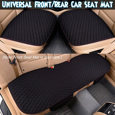 3Pcs Universal Car Front Rear Non-slip Seat Cover Breathable Pad Mat Cushion