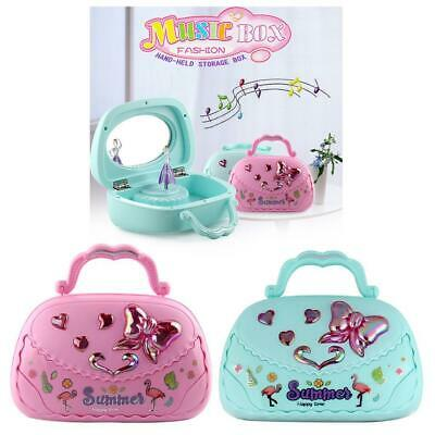 Girls Music Jewelry Box with Ballerina Unique Musical Box with Mirror