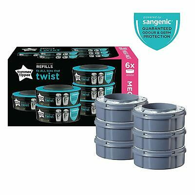 Tommee Tippee Twist and Click Advanced Nappy Disposal Sangenic Tec Refills, Pack