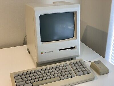  Vintage Apple Mac Macintosh Plus Computer | Working