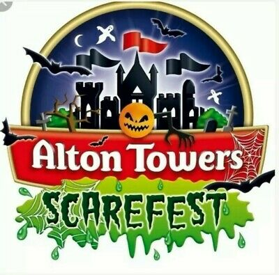 1x ALTON TOWERS SCAREFEST plus 1x FASTRACK for 2 people Nov 1st (School hols)