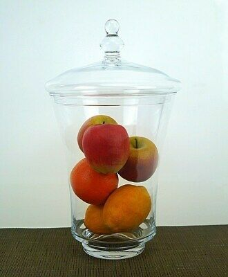 clear Glass display Bonbon Jar Candy Biscuit pasta Cookie 35cm  container sweet