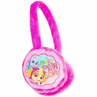 Childrens Kids Girls Pink Fluffy Paw Patrol Pawsome Earmuffs Winter Warmers