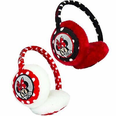 Childrens Kids Girls Black Red Disney Minnie Mouse Earmuffs Winter Warmers