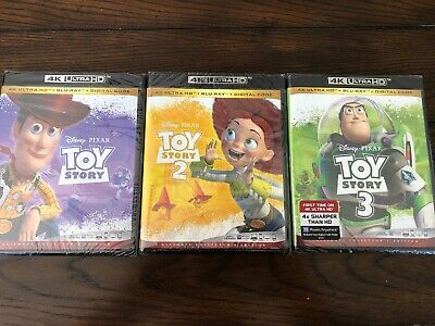 Toy Story Trilogy (1,2,3) 4k/BluRay/Digital HD ~Brand New~ FREE SHIPPING