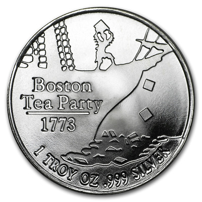 Boston Tea Party Don't Tread On Me Snake BU 1 oz Silver Round Coin in Capsule