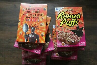 Limited Travis Scott X Reeses Puffs Cereal - REGULAR SIZE- PRICE PER BOX