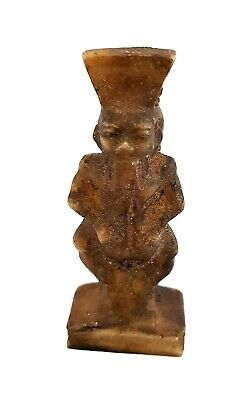 Very Rare Bes Amulet Ancient Egypt Faience Egyptian Roman Ca Nile God blue small