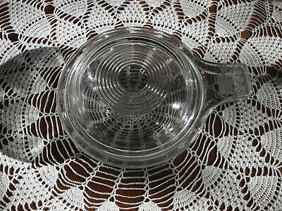 Vintage Pyrex Clear Glass Single Casserole w/Original Ribbed Domed Lid 601B NICE