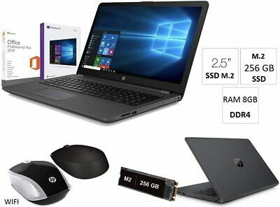 "Notebook HP 255 G7 15.6"",Ssd M2 256GB,Ram8Gb,Windows10+Office2019,Mouse wifi HP"