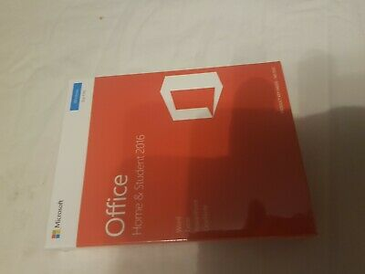 Microsoft Office Home and Student 2016 - Brand New Sealed Boxed Genuine
