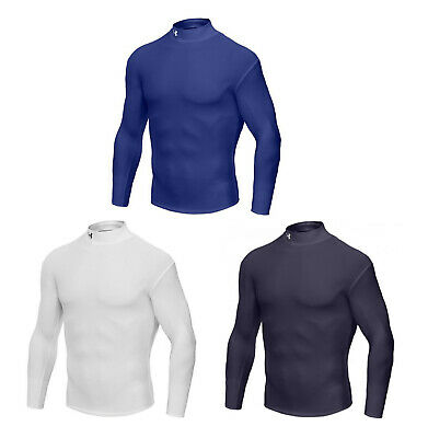 Under Armour BaseLayer ColdGear L/Sleeve Fitted Mock -1000512 - Mens Compression