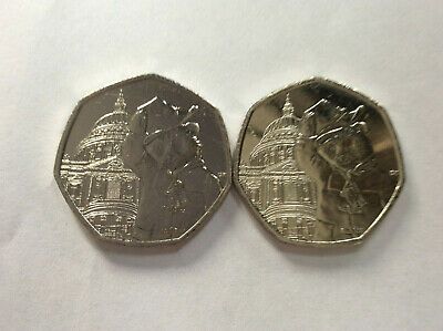 PADDINGTON - 'AT ST PAUL'S' NEW 2019 50p COIN X 2 UNCIRCULATED SEALED BAG BUC