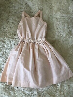 New Jcrew Crewcuts Girls' Silk Bow Back Occasion Dress G3625 $148 Peach Pink 10