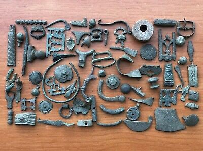Lot of 70 Ancient Roman and Byzantine Medieval Bronze Artifacts and Fragments